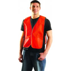 Occunomix - LUX-XNTM-O4X - OccuNomix 4X Hi-Viz Orange OccuLux Value Economy Light Weight Polyester Mesh Vest With Front Hook And Loop Closure And Elastic Side Straps And 1 Pocket