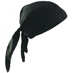 Occunomix - TN6-06 - OccuNomix Black Tuff Nougies 100% Cotton Deluxe Doo Rag Tie Hat With Elastic Rear Band