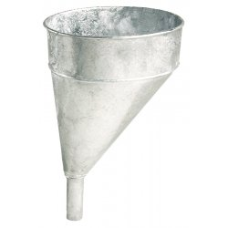 Plews / Edelman - 75-002 - 5qt Galvanized Steel Funnel Offset