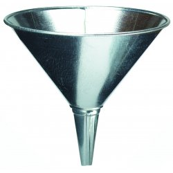 Plews / Edelman - 75-003 - Steel Funnel 2 Quart Flow Capacity 8 Inches In Diameter, Ea