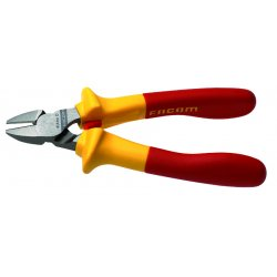 "Facom - FA-391.16VE - Oval Diagonal Cutters, 6-1/2"" Overall Length, 13/32"" Jaw Width, 3/4"" Jaw Length, Insulated"
