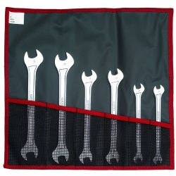 Facom - FM-31.JE6T - Open End Wrench Set, Metric, Number of Pieces: 6, Head Angle: 15