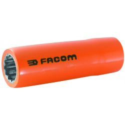"Facom - FM-S.14LAVSE - 14mm Alloy Steel Insulated Socket with 1/2"" Drive Size and Insulated Finish"