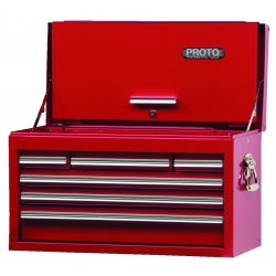 "Proto - 442715-6RD-D - Red Drop Front Chest 27x15"" 6 Drawer"