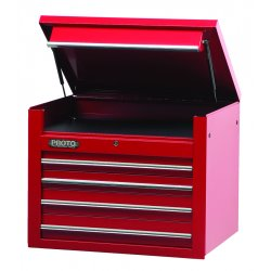 "Proto - 453427-4RD - 34"" Chest 4 Drws Red"