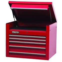 "Proto - 453427-5RD - 34"" Chest 5 Drws Red"