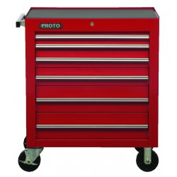 """Proto - 453441-6RD - 34"""" Roller Cabinet 6 Drws Red"""