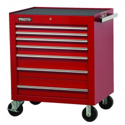 """Proto - 453441-8RD - Red 8 Drawer Roller Cabinet 34x41"""""""