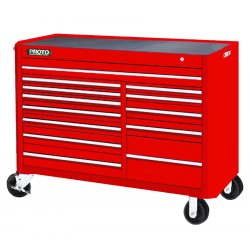 Proto - 455743-13RD - Red 13 Drawer Workstation 57x43""