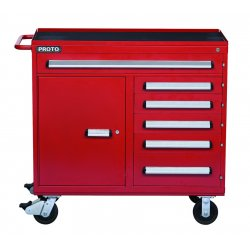 Proto - 464542-6RD-1S - 460 Series Workstation 6drawer 1 Shelf Red