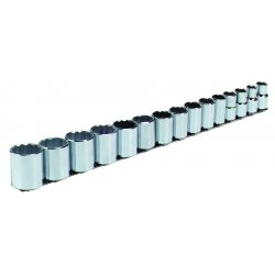 "Blackhawk / Stanley - 315-M - 15 Piece 1/2"" Drive Socket Set"