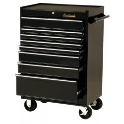 "Blackhawk / Stanley - 92708R - Cabinet 27"" 8 Drawer Blk"