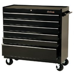 "Blackhawk / Stanley - 94106R - Cabinet 41"" 6 Drawer Blk"