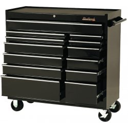 "Blackhawk / Stanley - 94114R - Cabinet 41"" 14 Drawer Blk"