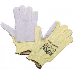Honeywell - KV18AL-100-50 - Honeywell Ladies Yellow Junk Yard Dog Standard Weight Cut Resistant Gloves With , Kevlar Lined And PVC Coating