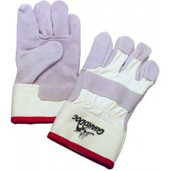 Honeywell - KV224D - Honeywell One Size Fits Most White Guard Dog Leather Cut Resistant Gloves With Seamless Knit Wrist, Kevlar Lined, Reinforced Kevlar Stitched Palm