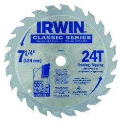 "IRWIN Industrial Tool - 25130 - IRWIN Classic Series 25130 Circular Saw Blade - 7.25"" Diameter - Rust Resistant"