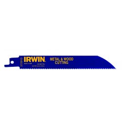 "IRWIN Industrial Tool - 372610 - IRWIN Metal & Wood Cutting Reciprocating Blades with WeldTec - 6"" Length x 35 mil Thickness - Metal - 1 / Pack"