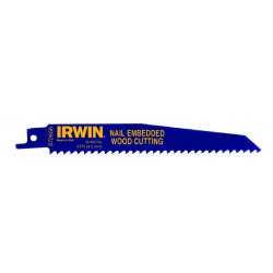 IRWIN Industrial Tool - 372656B - Irwin 372656B 6 x 6 TPI Nail Embedded Wood Cutting Reciprocating Blades (25 Pack)