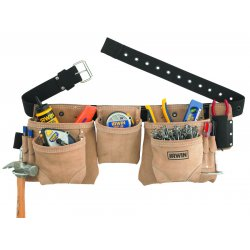 IRWIN Industrial Tool - 4031003 - 10 Pocket Suede Carpenters Apron