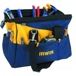 IRWIN Industrial Tool - 4402020 - IRWIN Carrying Case for Tools, Tape Measure, Knife - Blue, Yellow - Canvas - Handle, Shoulder Strap x 16 Width