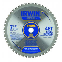IRWIN Industrial Tool - 4935555 - 7-1/4' x 48T Master Combination, Ferrous Steel, 5/8' Arbor - Carded