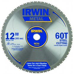 IRWIN Industrial Tool - 4935558 - 12 In. x 60T Master Combination, Ferrous Steel, 1 In. Arbor - Carded