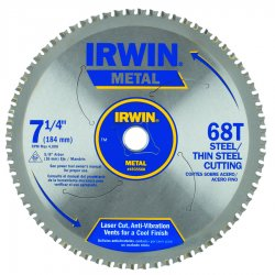 "IRWIN Industrial Tool - 4935560 - 7 1/4"" 68t Mc - Thin Steel"