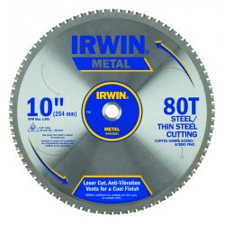 IRWIN Industrial Tool - 4935561 - 10' x 80T Master Combination, Thin Steel, 5/8' Arbor - Carded