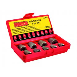 "IRWIN Industrial Tool - 54009 - 9 Piece Bolt Extractor Set 1/4-3/4"" W/3/8"" Drv"
