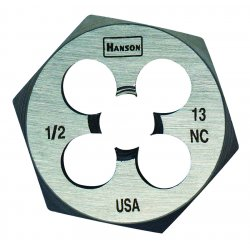 IRWIN Industrial Tool - 6848 - High Carbon Steel Fractional Hexagon Dies (Each)