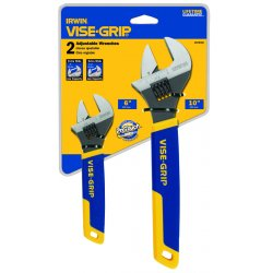 "IRWIN Industrial Tool - 2078700 - 2 Piece Adjustable Wrench Display (6"" & 10"")"