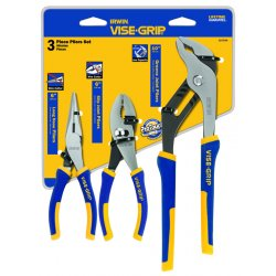 "IRWIN Industrial Tool - 2078704 - 3 Piece Pro Plier Set(6""long Nose& Slip/10"" Groo"