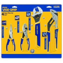 """IRWIN Industrial Tool - 2078705 - 4 Piece Pro Plier Set (6"""" Ln & Slip/10"""" Adj& Gro"""