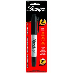 Sharpie - 36401PP - Super Sharpie Black Twintip Permanent Marker