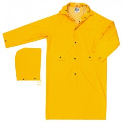 "River City - 200CX3 - Classic- .35mm- Pvc/polyester- 49"" Coat- Yellow"