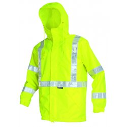 "River City - 598RJHXL - Cls 3 Brthable Poly/polyureth Jacket 2"" Wh Vinyl"