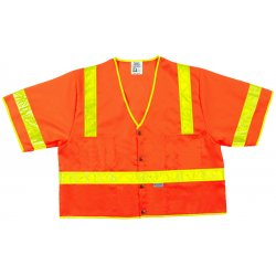 River City - CL3SOVXL - Lum. Class Iii Poly Fluorescent Safety Vest Orng