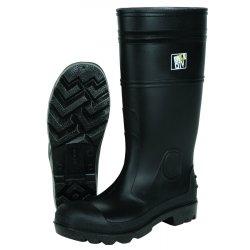 """River City - PBP12010 - 16"""" Pvc Knee Boot- Mens-plain Toe- Black"""