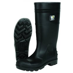 "River City - PBS12012 - 16"" Pvc Knee Boot- Mens-steel Toe- Black"