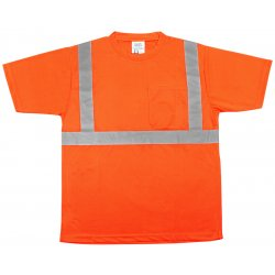 River City - TSCL2OM - Luminator Class Ii Polyfluorescent T-shirt Orng