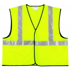 River City - VCL2SLX3 - Class Ii Solid Poly Fluorescent Lime Safety Vest