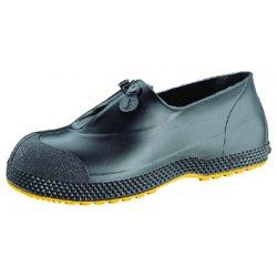 "Servus / Honeywell - 11003/L - 4""H Men's Overboots, Plain Toe Type, PVC Upper Material, Black/Yellow, Size L"