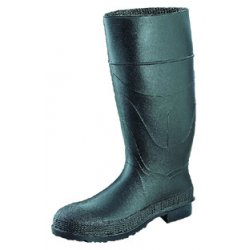 "Servus / Honeywell - 18822/10 - 16""H Men's Knee Boots, Plain Toe Type, PVC Upper Material, Black, Size 10"