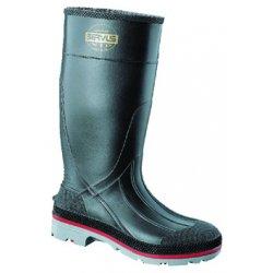 "Servus / Honeywell - 75108/13 - 15""H Men's Knee Boots, Plain Toe Type, PVC Upper Material, Black, Size 13"