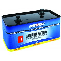 Rayovac - 803 - Lantern Battery, Voltage 7.5, Screw Terminal Type