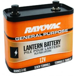 Rayovac - 926 - General purpose Lantern Battery, Voltage 12.0, Screw Terminal Type