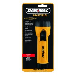 Rayovac - IN2-KC - General Purpose Krypton Handheld Flashlight, Plastic, Maximum Lumens Output: 17, Yellow
