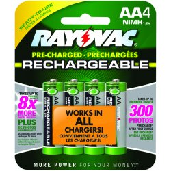 Rayovac - LD715-4OPB - RAYOVAC LD715-4OPB Ready-to-Use NiMH Rechargeable Batteries (AA; 1, 350mAh; 4 pk)