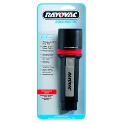 Rayovac - R2DC - Ray-O-Vac Black Roughneck Extreme Flashlight With Xenon Bulb And Ring Hanger (Requires 2 D Batteries - Sold Separately)